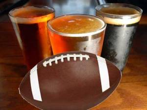 This is what football with good beer looks like